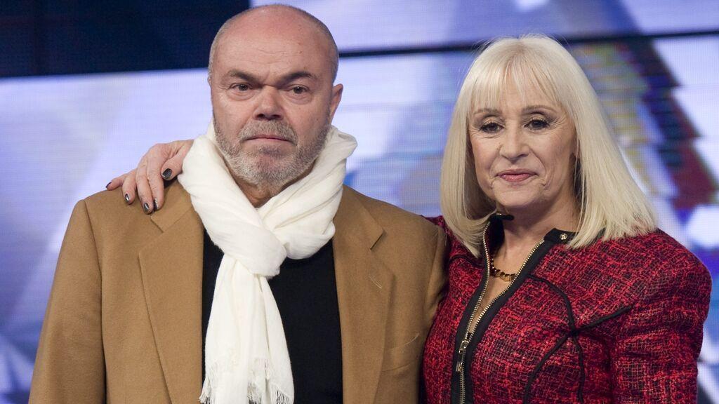 Raffaella Carrá con su marido, Sergio Japino (2015)