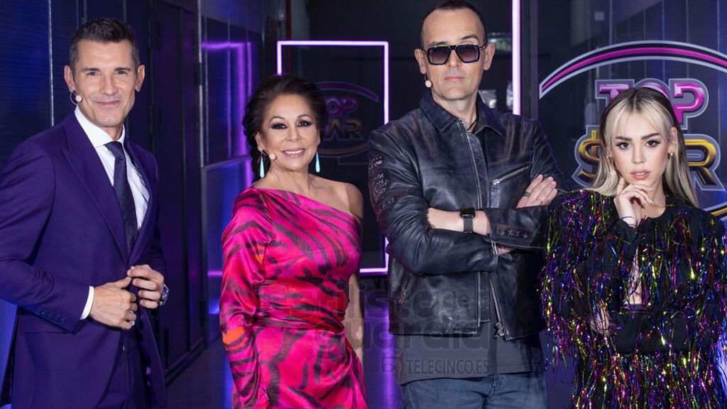Jesús Vázquez, Isabel Pantoja, Risto Mejide y Danna Paola