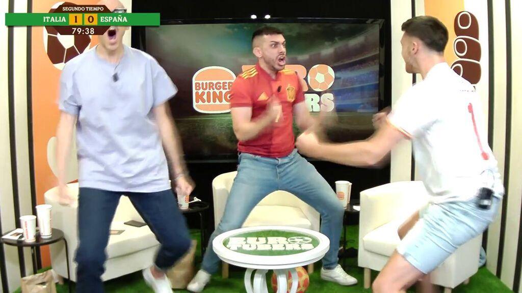 Gol de Morata y reacción de Eurotubers