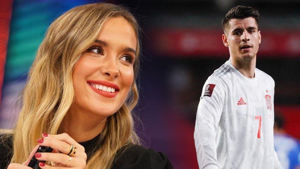 María Pombo celebra el gol de Álvaro Morata