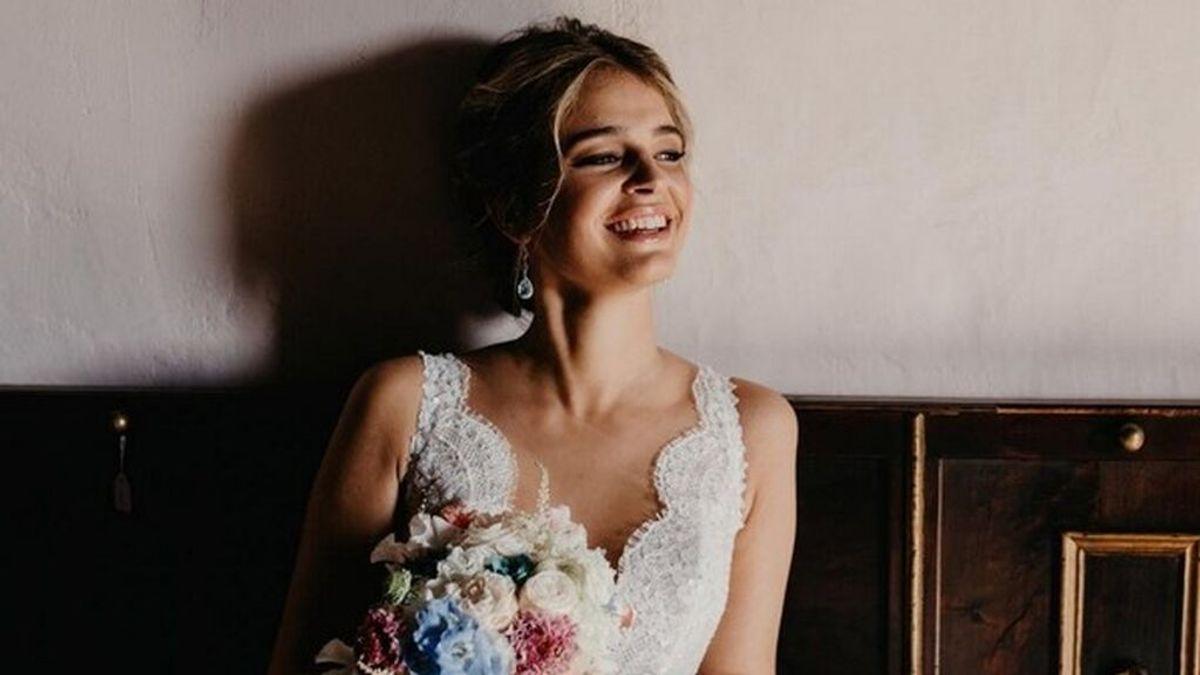 150 horas de trabajo y un velo de más de tres metros bordado a mano: todo lo que no sabías del vestido de novia de Laura Escanes.