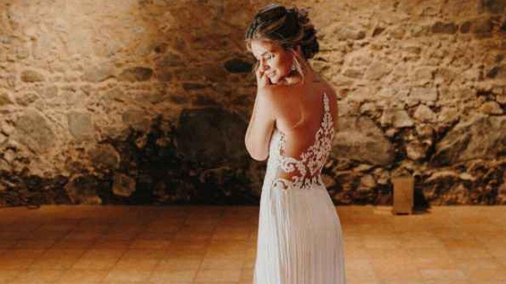 Laura se decantó por otro vestido para la fiesta.