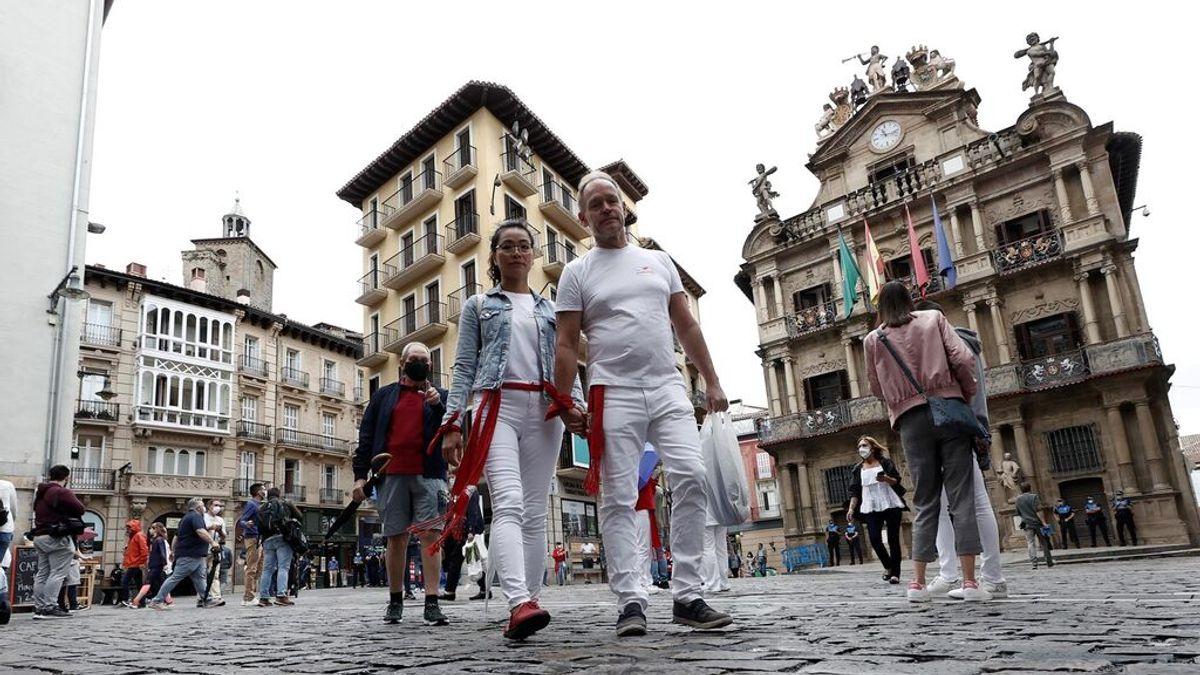 Tristeza y silencio en un nuevo 7 de julio sin encierro de San Fermín por la pandemia
