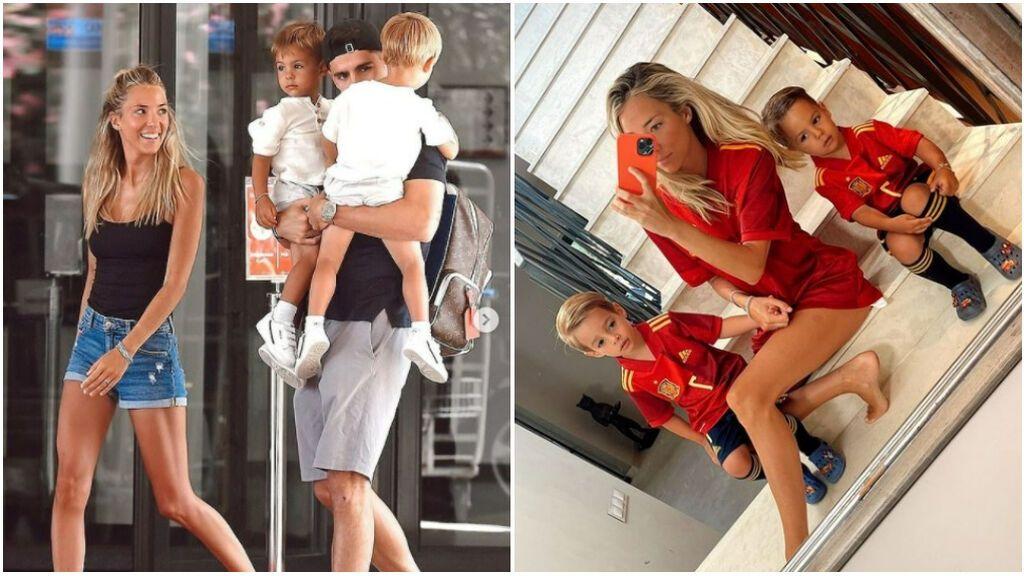El reencuentro de Morata con sus hijos después de una Eurocopa muy dura para la familia