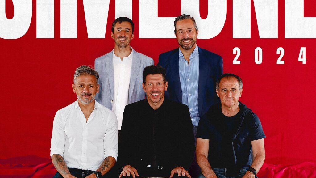 El Atlético hace oficial la renovación de Simeone y su cuerpo técnico hasta 2024