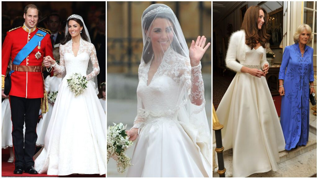 Análisis al detalle de los vestidos de novia de Kate Middleton: de los diseños de Alexander McQueen al guiño a Lady Di e Inglaterra.