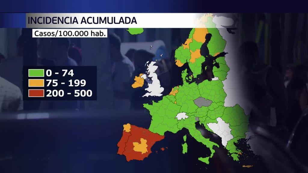 España, a la cabeza de contagios en Europa por culta de la variante Delta