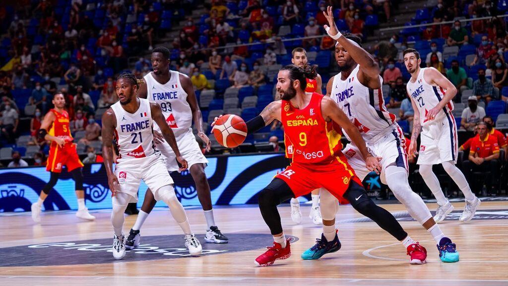 Ricky Rubio y Sergio Rodríguez lideran la victoria ante Francia: España se puso el mono de trabajo (