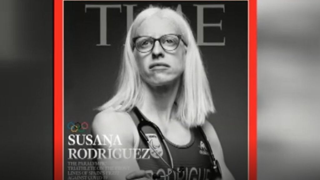 La triatleta española ciega y médico, Susana Rodríguez, portada de la revista Time