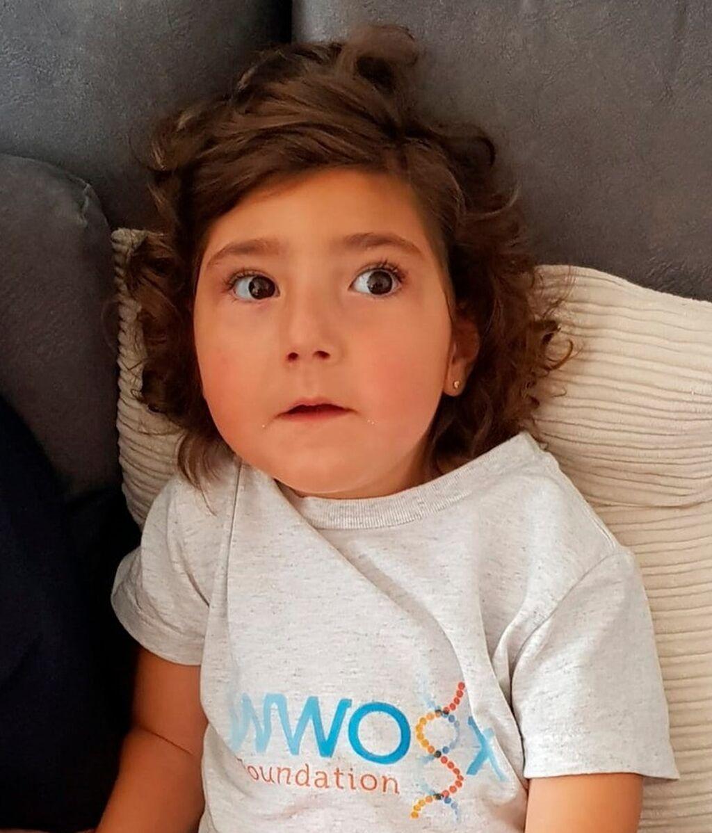 Zoe es la única enferma en España de una enfermedad rara conocida como Síndrome de Woree