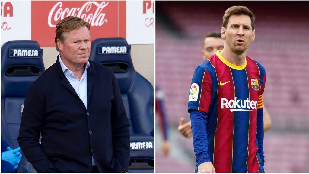 """Koeman se empieza a inquietar con el futuro de Messi: """"Cuando un tema no se cierra te preocupas"""""""