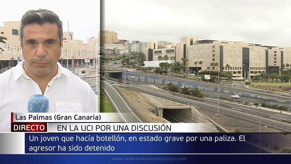Un joven de 21 años, en la UCI tras recibir un puñetazo durante un botellón en Lanzarote