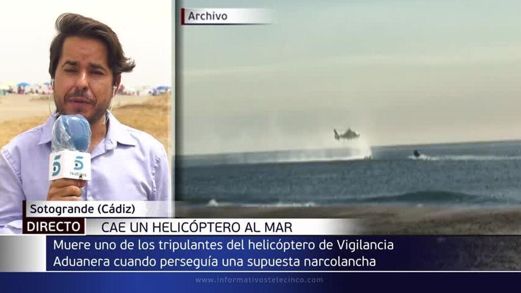Muere un agente de aduanas en un accidente de helicóptero en el Estrecho: perseguían una narcolancha