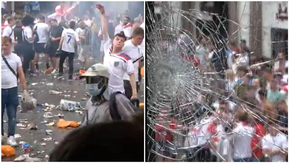 Batalla campal en las calles de Londres antes de la final de la Eurocopa: La afición inglesa está descontrolada