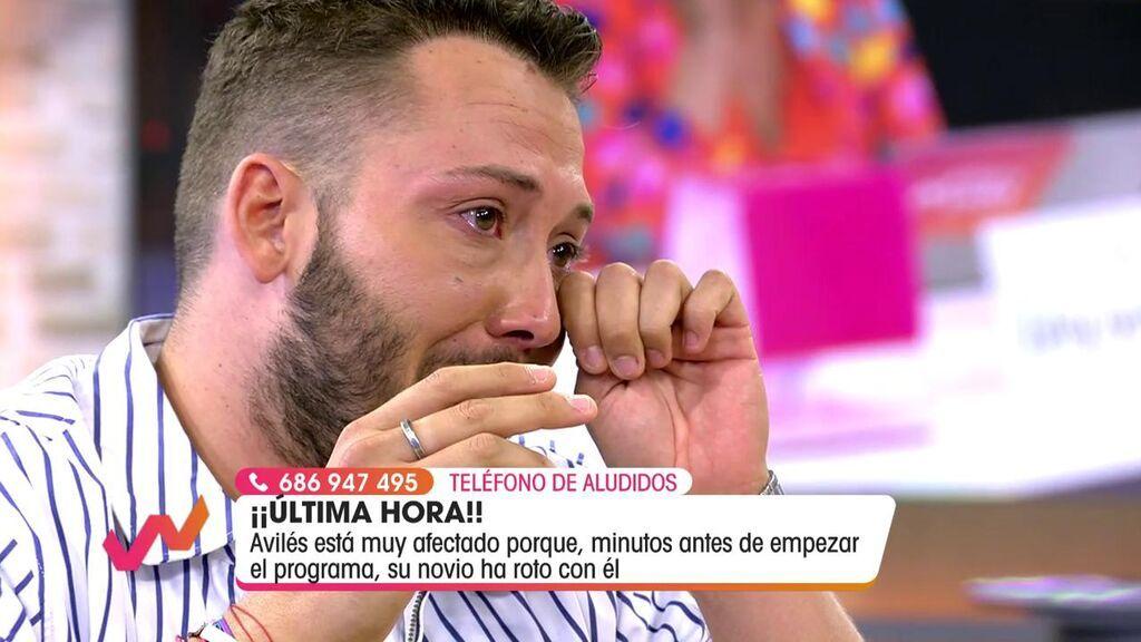 José Antonio Avilés, afectado tras romper con su novio