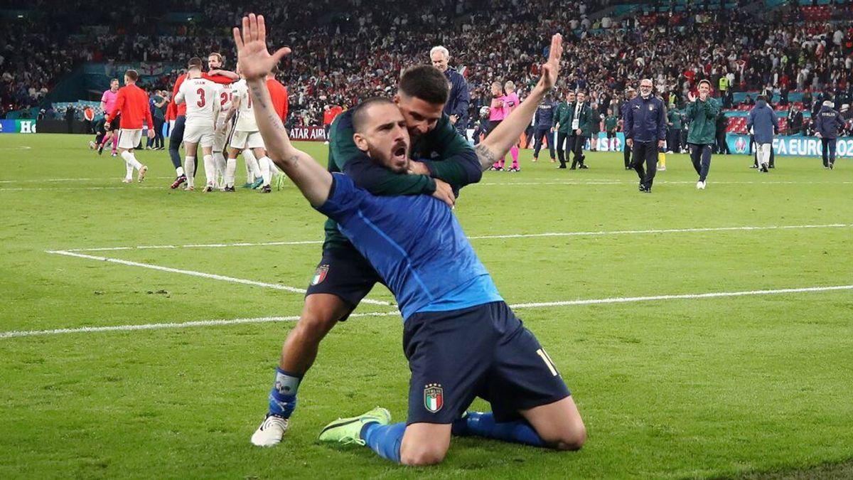 """Bonucci se acuerda de los aficionados ingleses en la celebración: """"It's coming to Rome"""""""