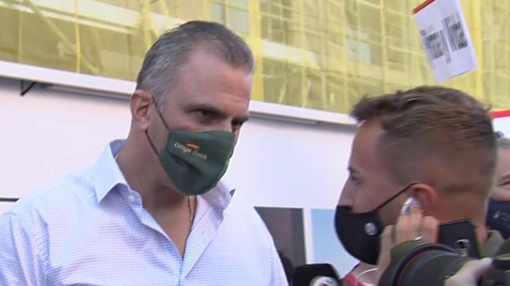 Javier Ortega Smith se ha manifestado ante la Embajada de Cuba en Madrid