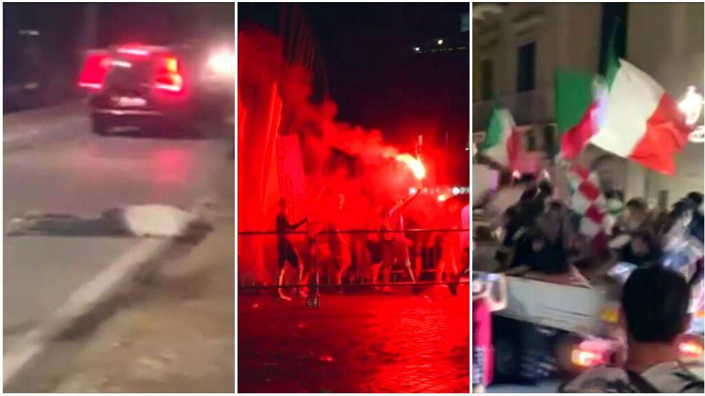 La fiesta de Italia por la Eurocopa acabó mal: Muchos accidentes y varios heridos en el hospital