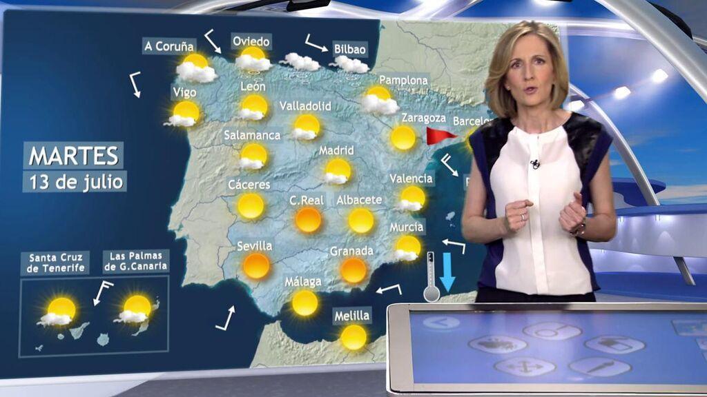 Avisos por viento por el avance de un frente: el tiempo que hará el martes en España