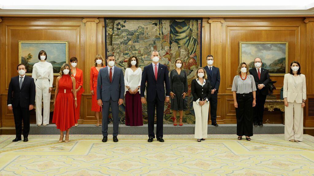 La foto del nuevo consejo de ministros