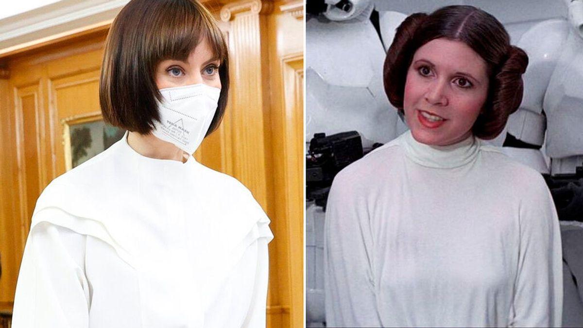Diana Moran, comparada con la princesa Leia en la toma de posesión de su cargo como ministra de Ciencia