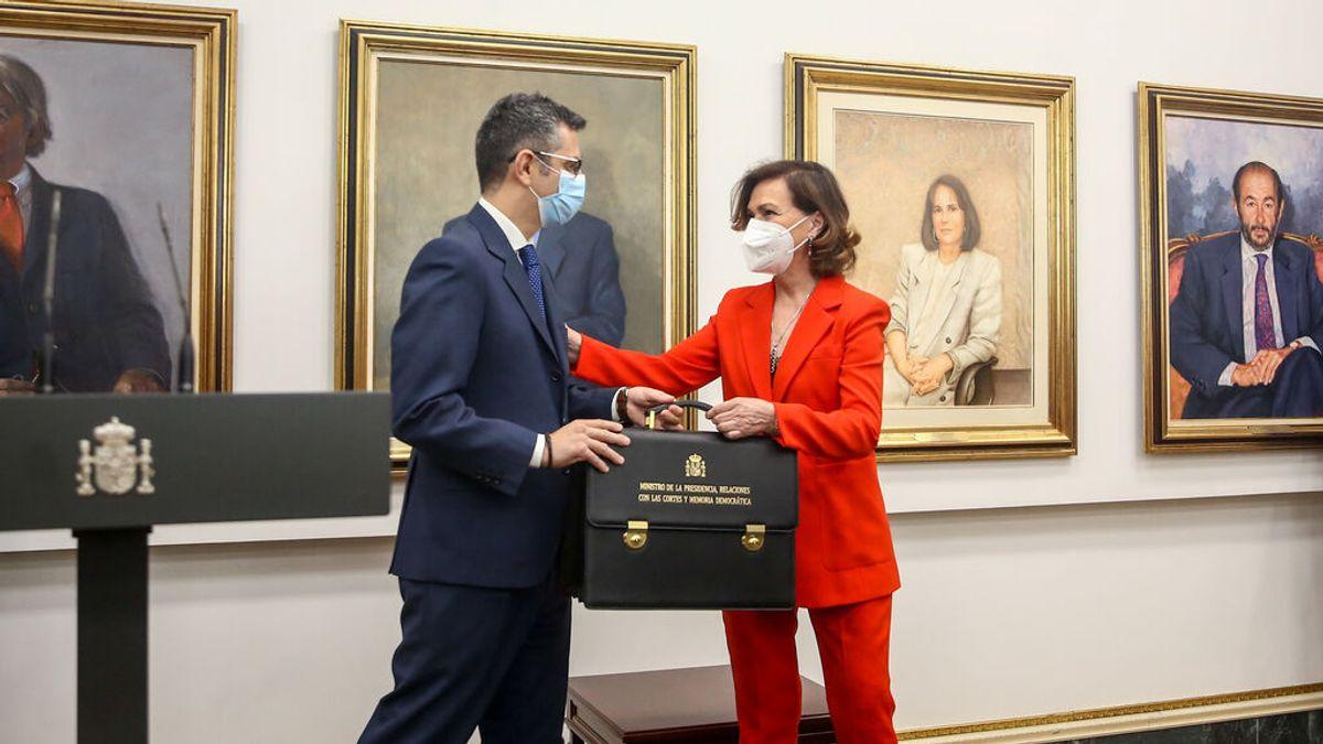 Bolaños aplaza la aprobación de la ley de memoria democrática de Calvo, prevista para este martes