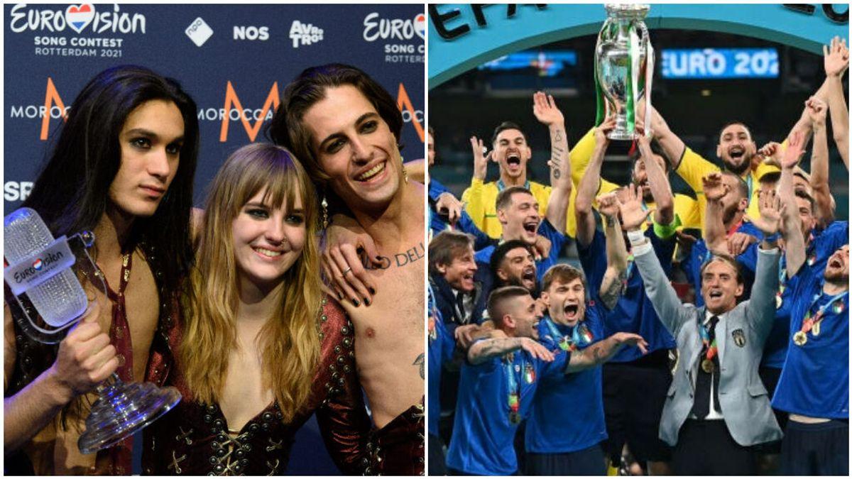 Italia primer país en ganar la Eurocopa y Eurovisión en el mismo año: La Azzurra y Maneskin hacen historia