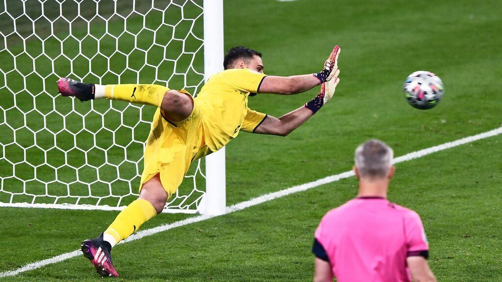 Donnarumma para el penalti decisivo a Saka para darle la Eurocopa a Italia