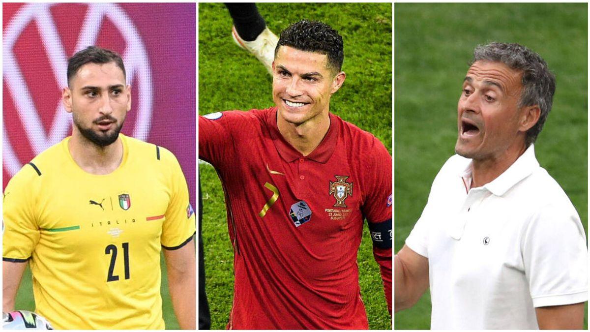 Luis Enrique, Cristiano Ronaldo y Donnarumma son algunos de los nombres propios que ha dejado esta Eurocopa