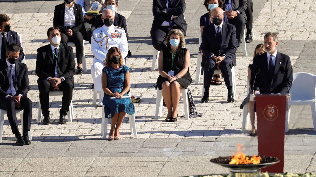 Tristeza y esperanza en el homenaje de Estado a los sanitarios fallecidos por la pandemia