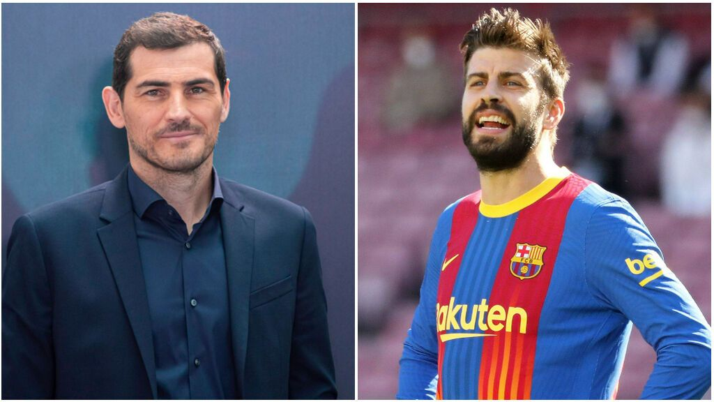Gerard Piqué se cambia de look e Iker Casillas le hace el troleo máximo