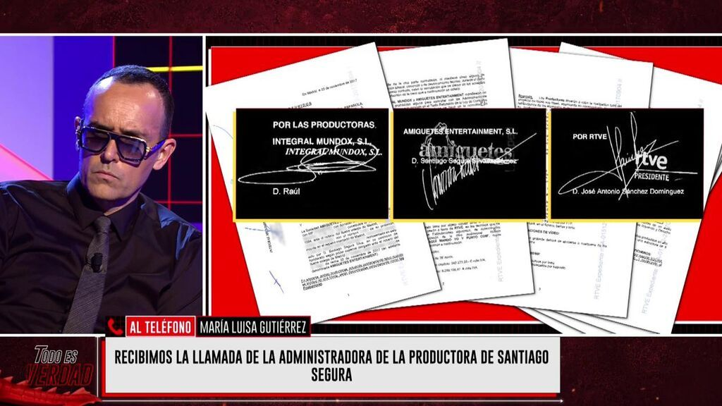 La administradora de la productora de Santiago Segura
