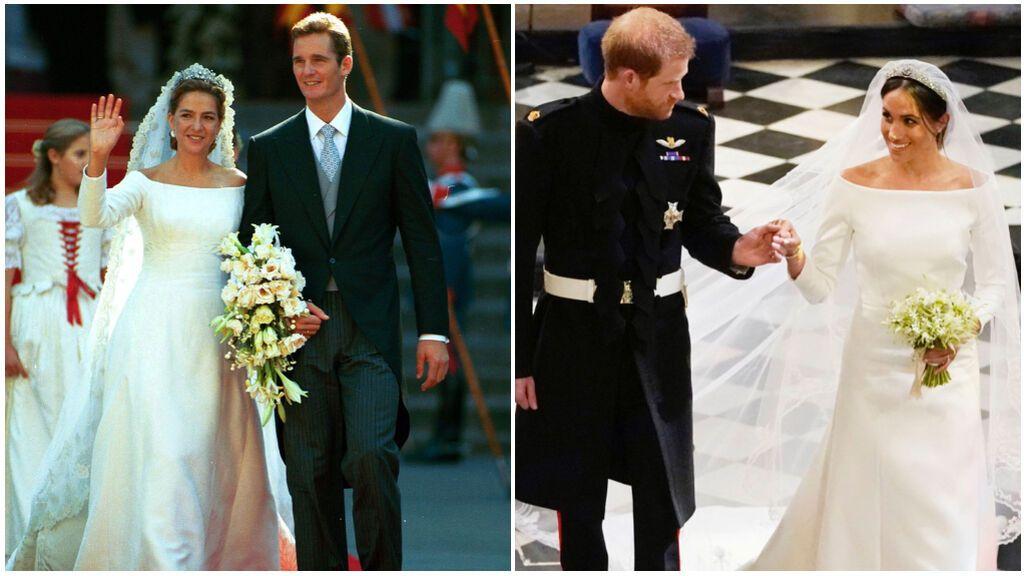 El vestido de Cristina guarda un gran parecido con el de Meghan Markle.