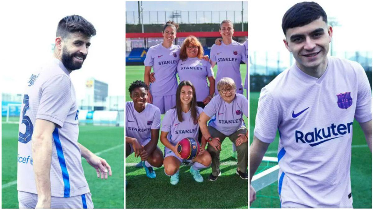 """El Barcelona apoya la lucha por la igualdad de género con su segunda equipación: """"Todas unidas hacemos fuerza"""""""