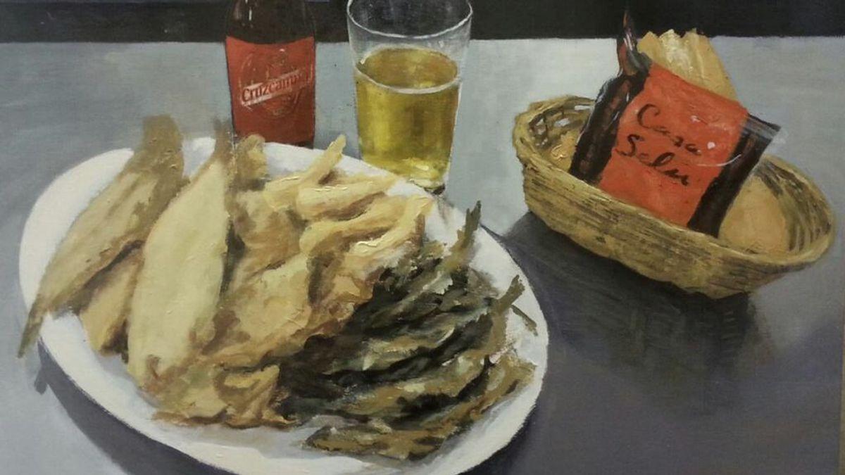 El pintor de lo cotidiano: acedías fritas, tortas y dulces al óleo