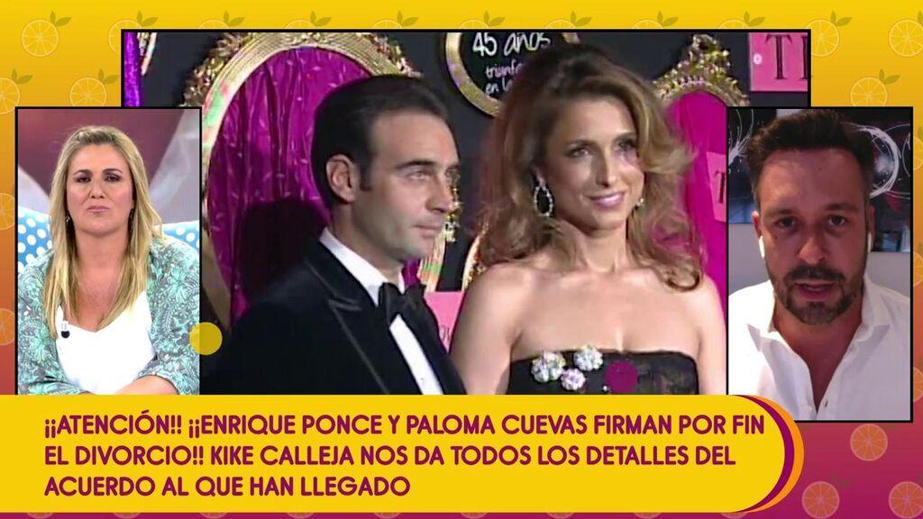 El acuerdo de divorcio de Enrique Ponce y Paloma Cuevas