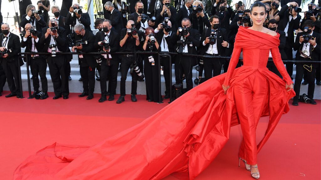 Marta Lozano en la alfombra roja del Festival de Cannes