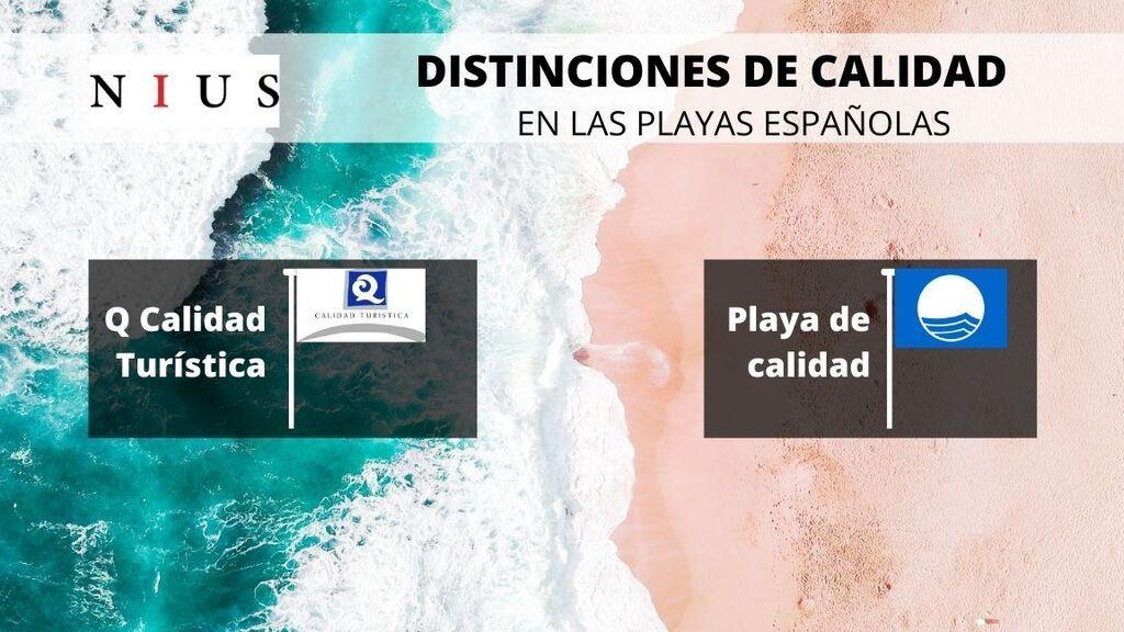 Distintivos de calidad en las playas españolas.