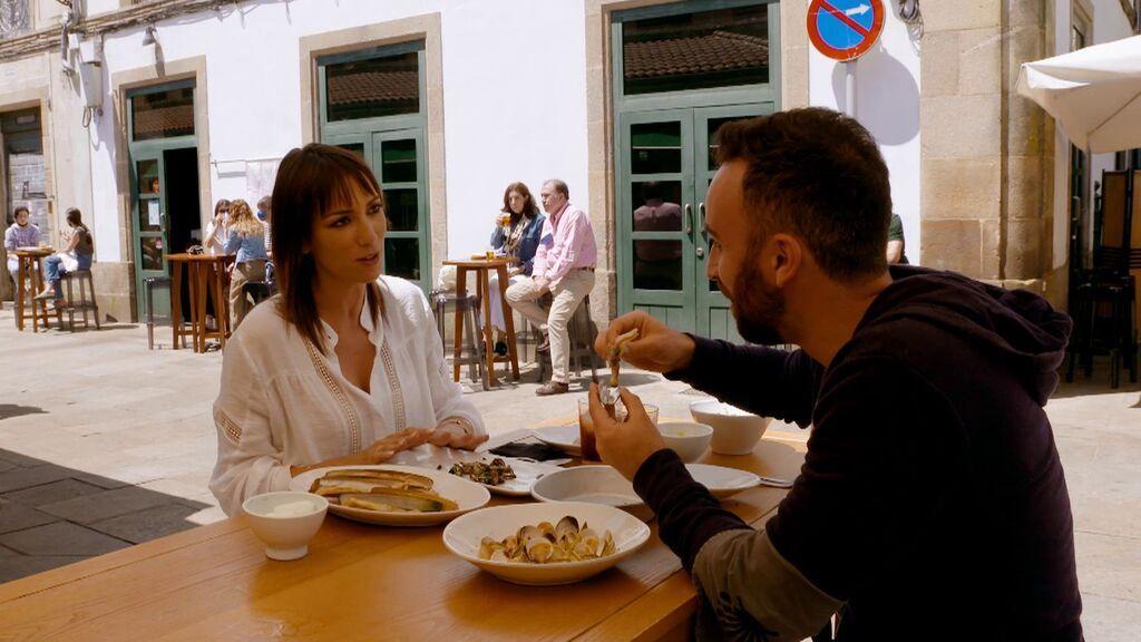 Disfrutando de la buena comida de Galicia