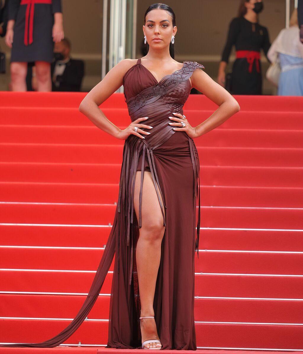 Georgina Rodríguez en la alfombra roja del Festival de Cannes