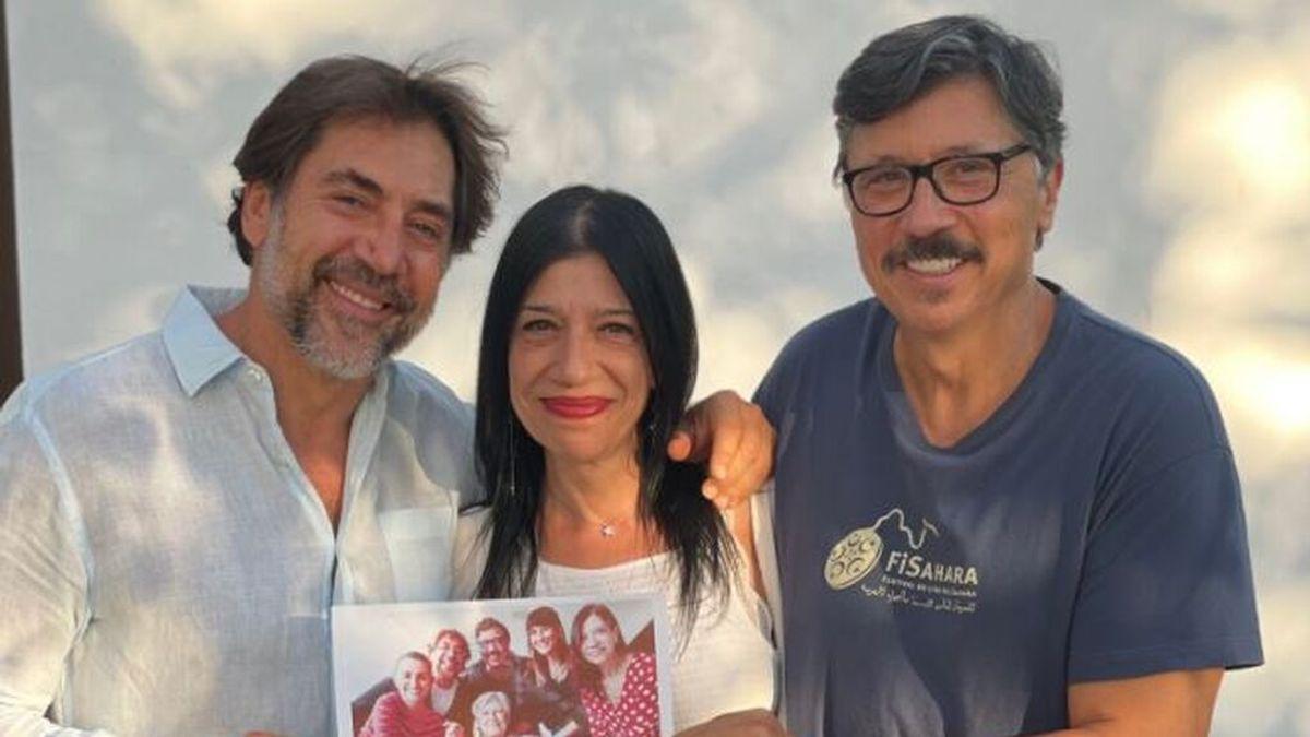 Javier Bardem y sus hermanos se despiden de su madre