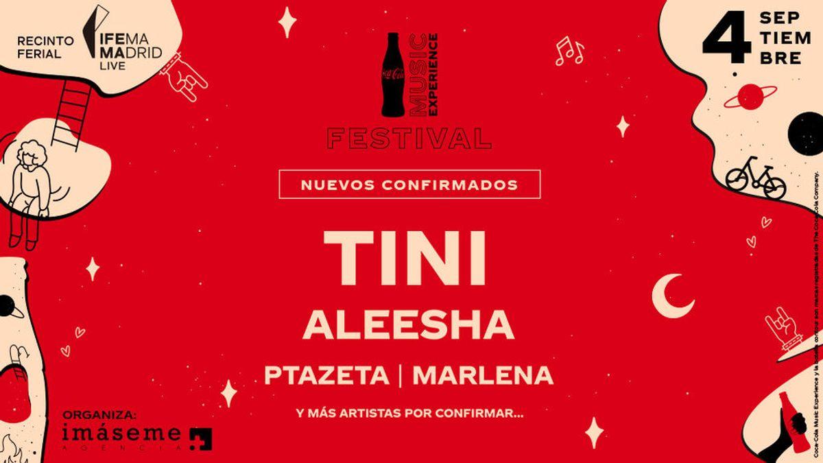 Tini, Aleesha, Ptazeta y Marlena: nuevas artistas confirmadas en el Festival Coca-Cola Music Experience