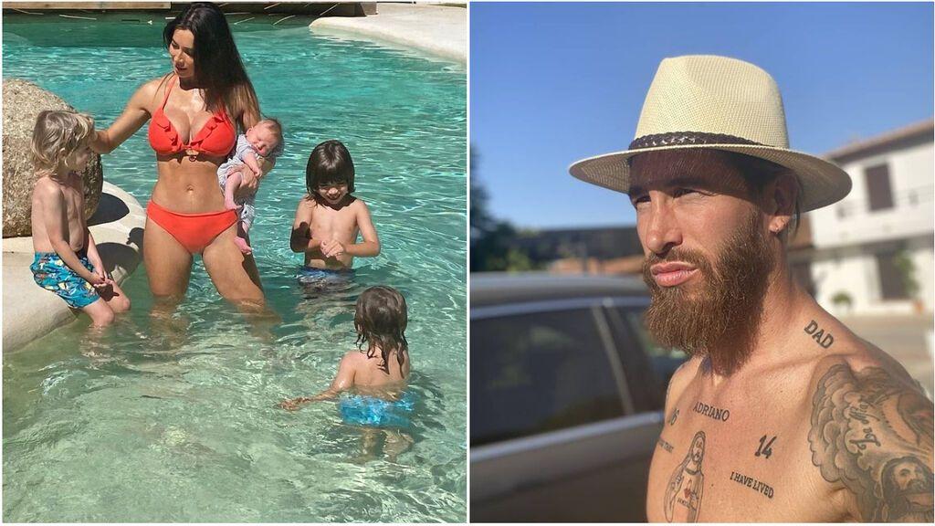 Sergio Ramos y Pilar Rubio ya presumen de sus lujos en París: la piscina infinita que disfrutan en familia