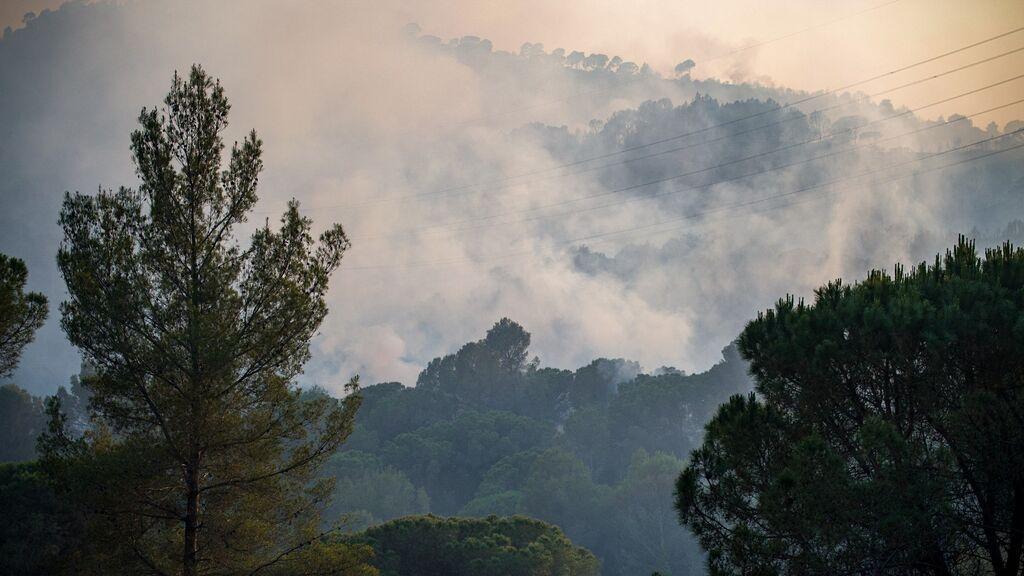 Un detenido por el incendio forestal de Castellví y Martorell. Le imputan negligencia grave
