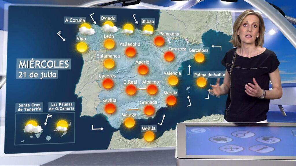 El tiempo que hará el miércoles en España