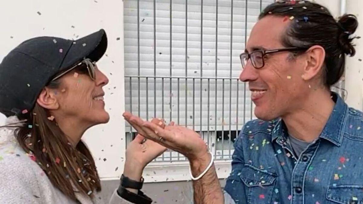 Paz Padilla con su marido fallecido, Antonio Vidal