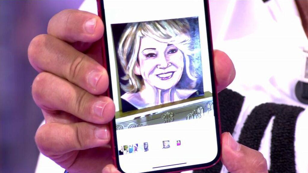 El cuadro con la imagen de Mila Ximénez