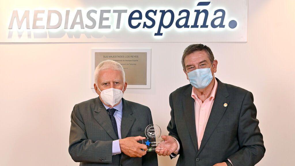 Mediaset España recibe el reconocimiento 'Premio Estrellas' de la Federación Española de Bancos de Alimento por su labor divulgativa y de colaboración con 'La Gran Recogida de Alimentos' durante la pandemia