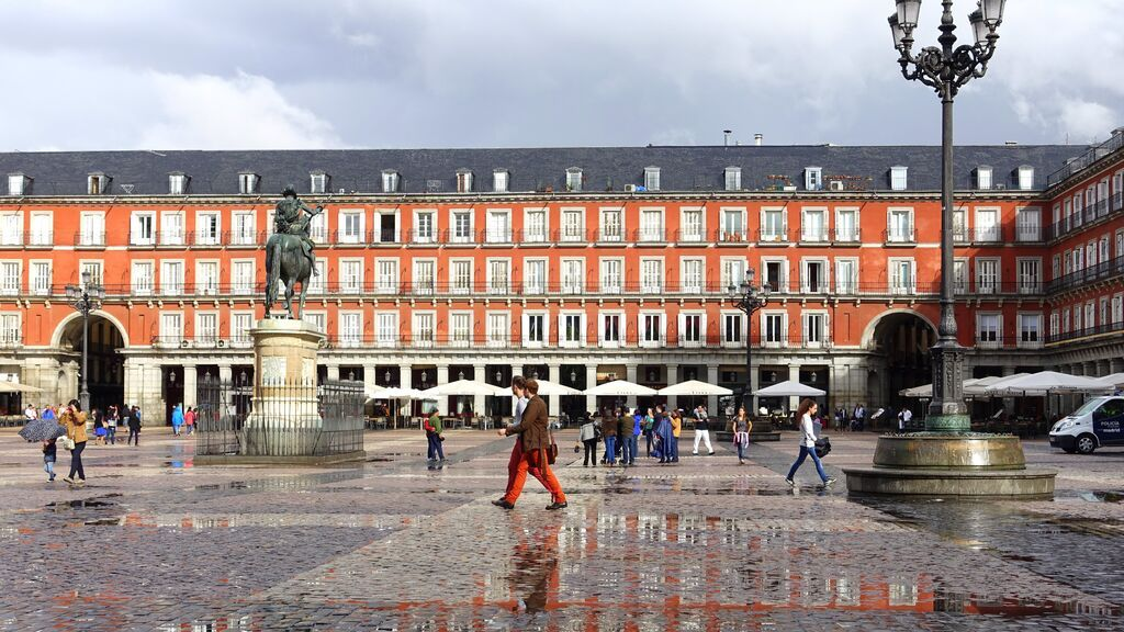 La Plaza Mayor, en el centro de Madrid.