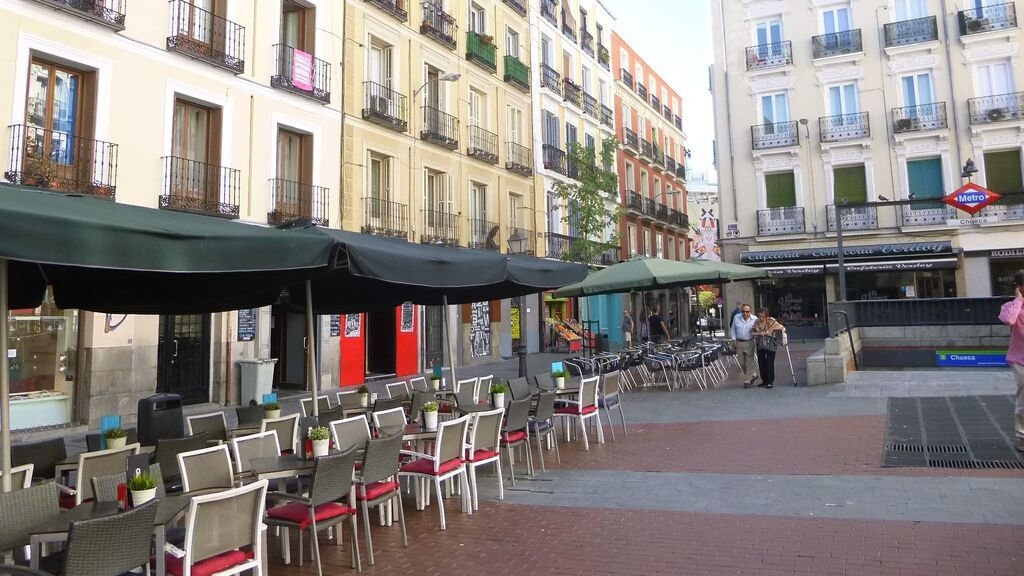 Terraza de un bar de Madrid.